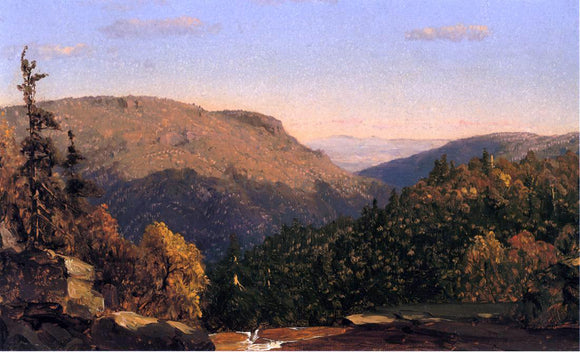 Sanford Robinson Gifford Twilight Park (also known as Kauterskill Clove, from Haines Falls) - Canvas Art Print