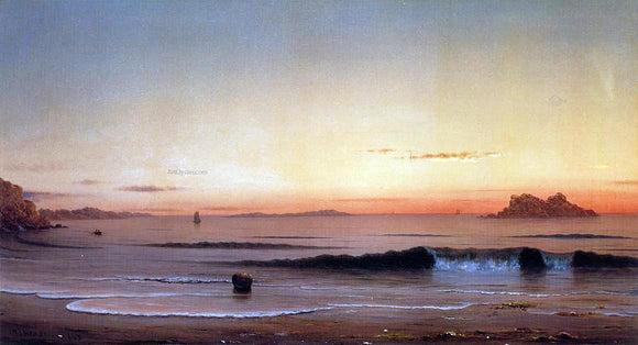 Martin Johnson Heade Twilight, Singing Beach - Canvas Art Print