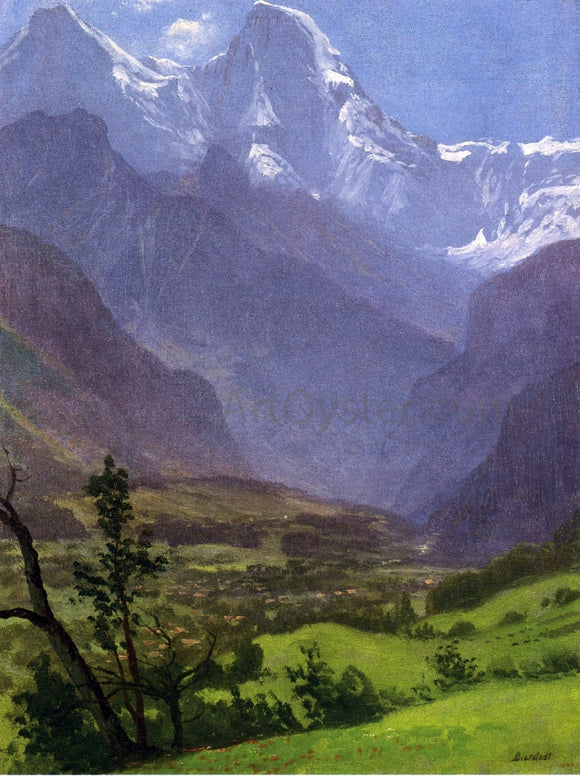 Albert Bierstadt Twin Peaks, Rockies - Canvas Art Print