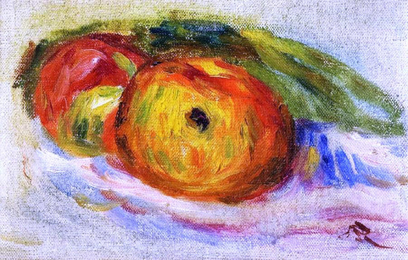 Pierre Auguste Renoir Two Apples - Canvas Art Print