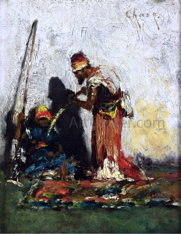 William Merritt Chase Two Arabs - Canvas Art Print