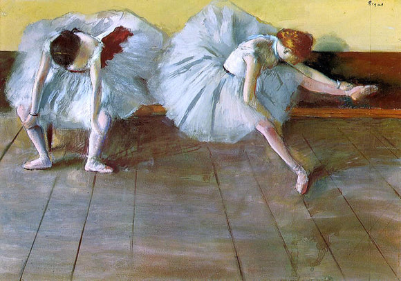 Edgar Degas Two Ballet Dancers - Canvas Art Print