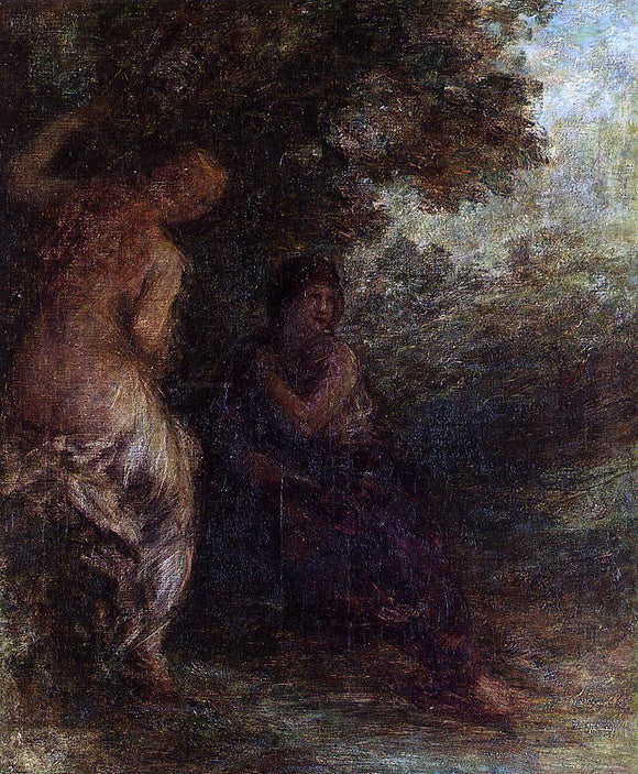 Henri Fantin-Latour Two Bathers (also known as The Surprise) - Canvas Art Print