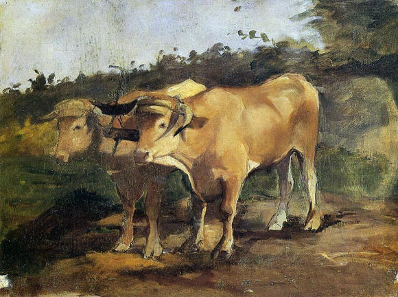 Henri De Toulouse-Lautrec Two Bulls Wearing a Yoke - Canvas Art Print