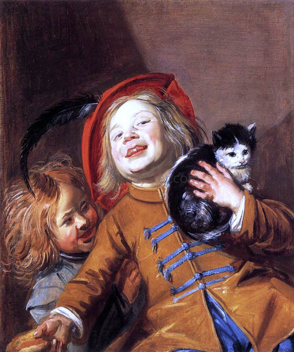 Judith Leyster Two Children with a Cat - Canvas Art Print