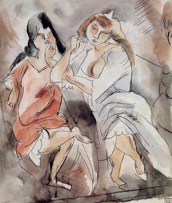 Jules Pascin Two Creoles - Canvas Art Print