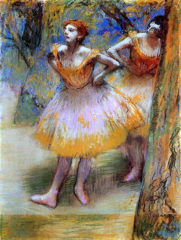 Edgar Degas Two Dancers - Canvas Art Print