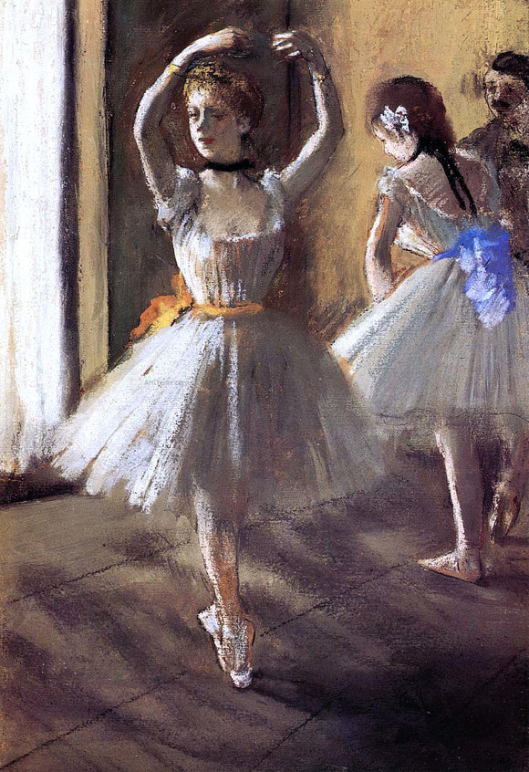 Edgar Degas Two Dancers in the Studio (also known as Dance School) - Canvas Art Print