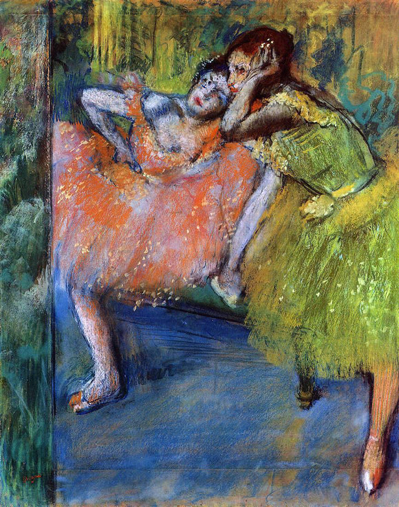Edgar Degas Two Dancers in the Studio - Canvas Art Print