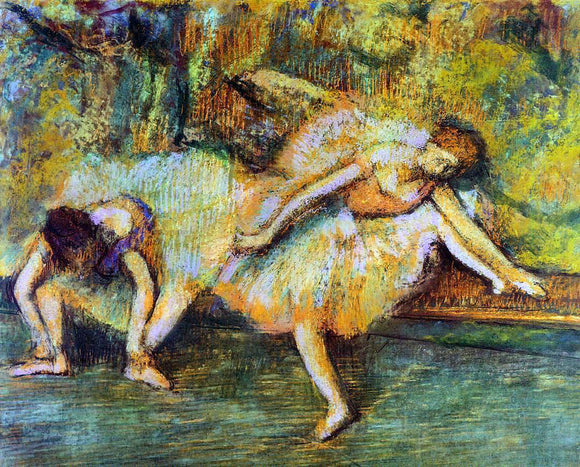 Edgar Degas Two Dancers on a Bench - Canvas Art Print