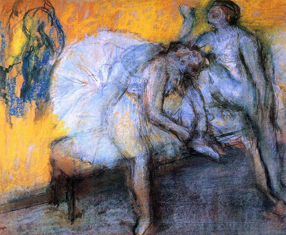 Edgar Degas Two Dancers Resting - Canvas Art Print
