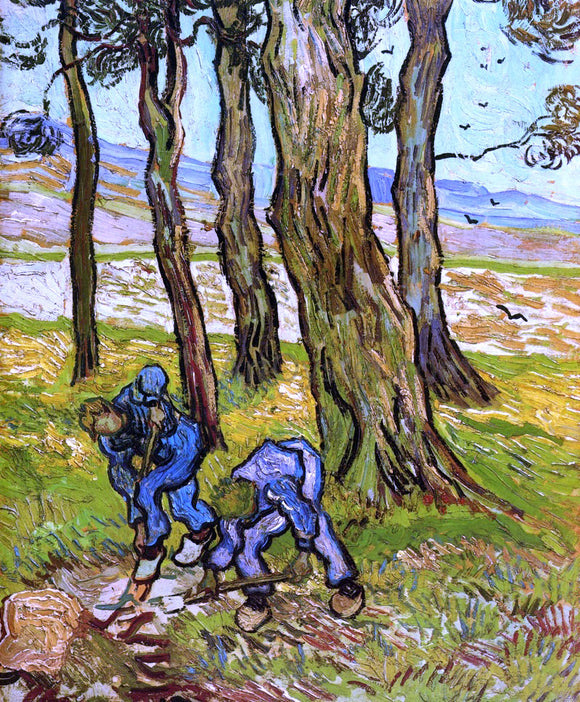 Vincent Van Gogh Two Diggers Among Trees - Canvas Art Print