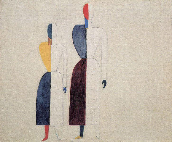 Kazimir Malevich Two Figures - Canvas Art Print