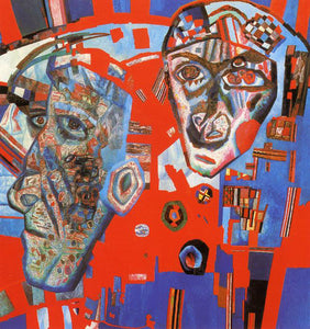 Pavel Filonov Two Heads - Canvas Art Print