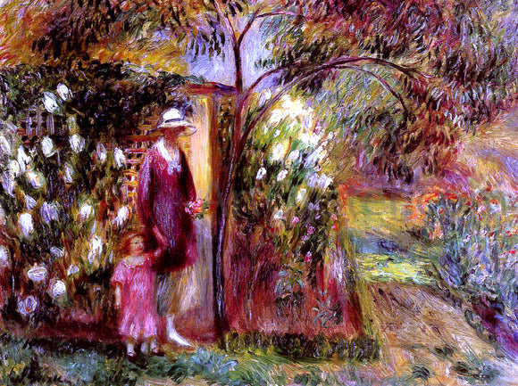 William James Glackens Two In A Garden - Canvas Art Print