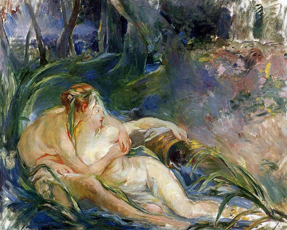 Berthe Morisot Two Nymphs Embracing - Canvas Art Print