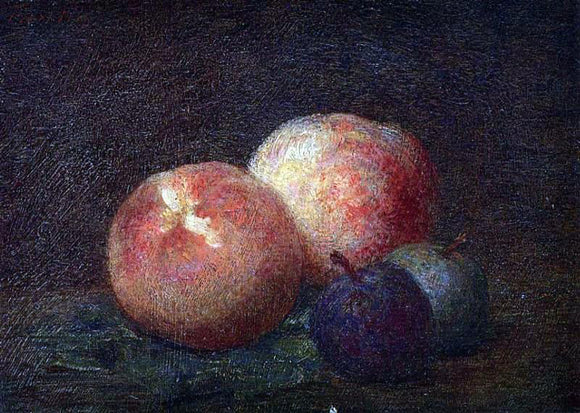 Henri Fantin-Latour Two Peaches and Two Plums - Canvas Art Print