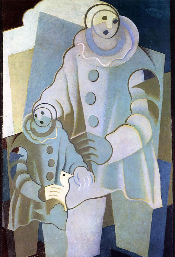 Juan Gris Two Pierrots - Canvas Art Print