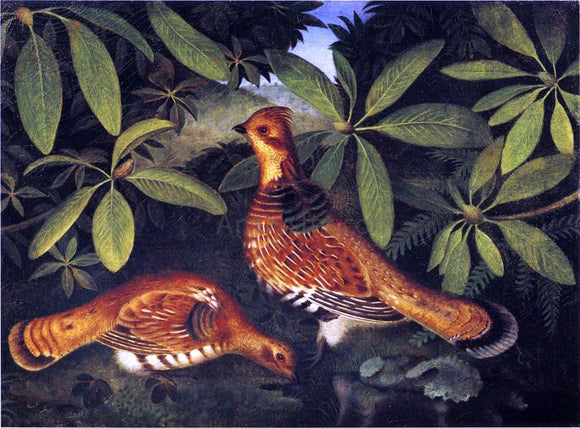 Rubens Peale Two Ruffed Grouse - Canvas Art Print