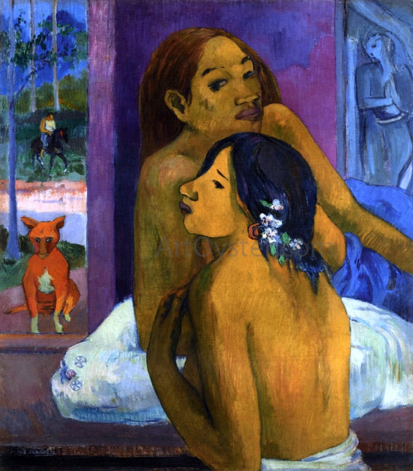 Paul Gauguin Two Women (also known as Flowered Hair) - Canvas Art Print