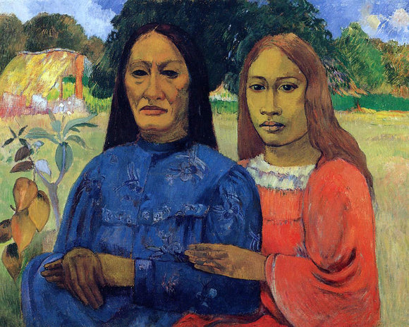 Paul Gauguin Two Women (also known as Mother and Daughter) - Canvas Art Print