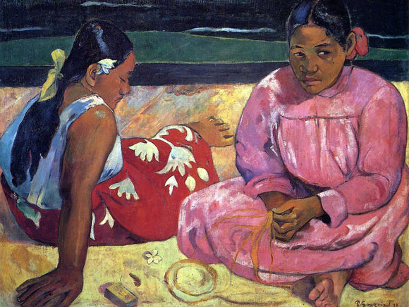 Paul Gauguin Two Women on the Beach - Canvas Art Print