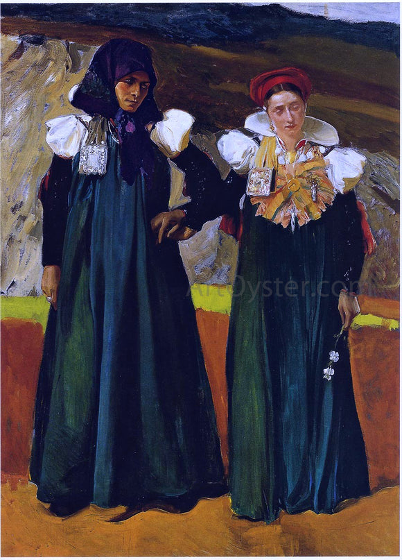 Joaquin Sorolla Y Bastida Types from the Anso Valley - Canvas Art Print