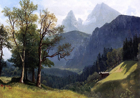 Albert Bierstadt Tyrolean Landscape - Canvas Art Print