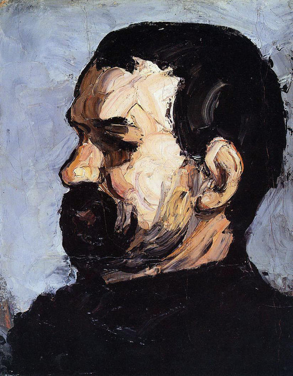 Paul Cezanne Uncle Dominique in Profile - Canvas Art Print