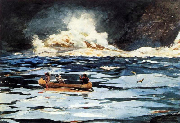Winslow Homer Under the Falls, The Grand Discharge - Canvas Art Print