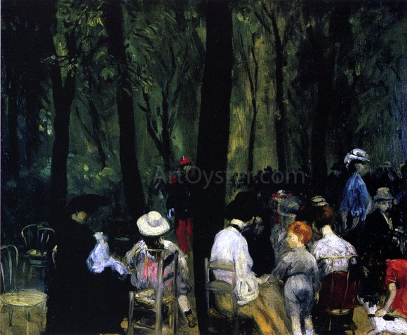 William James Glackens Under the Trees, Luxembourg Gardens - Canvas Art Print