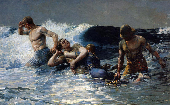 Winslow Homer Undertow - Canvas Art Print