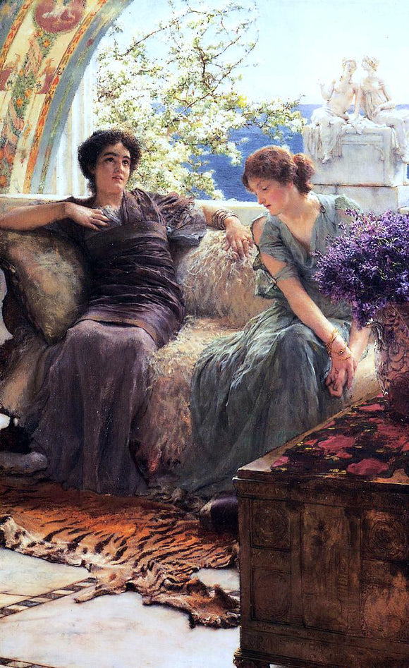 Sir Lawrence Alma-Tadema Unwelcome Confidence - Canvas Art Print