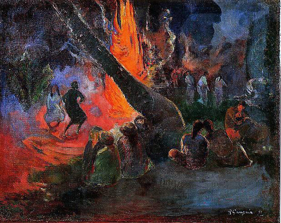 Paul Gauguin Upaupa (also known as Fire Dance) - Canvas Art Print