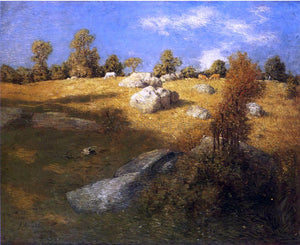 Julian Alden Weir Upland Pasture - Canvas Art Print