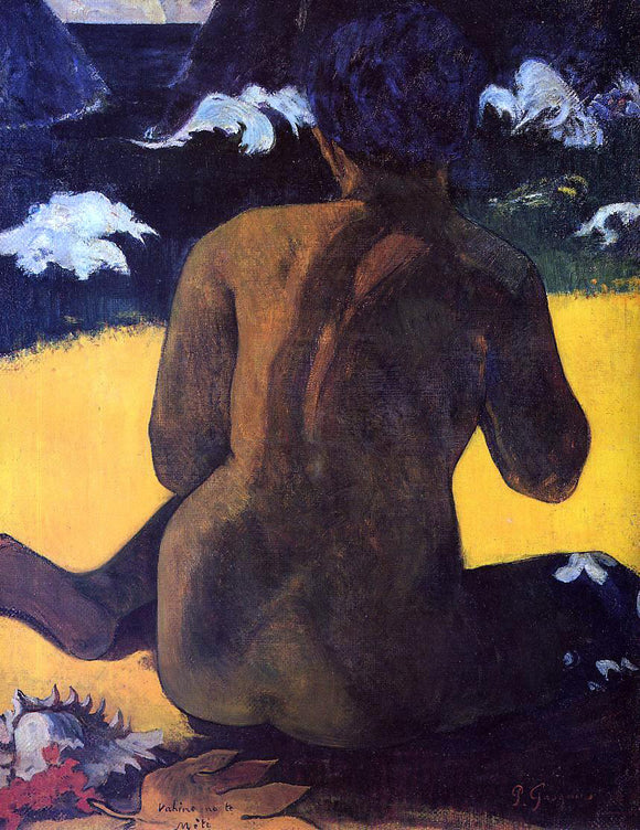 Paul Gauguin Vahine no te Miti (also known as Woman by the Sea) - Canvas Art Print
