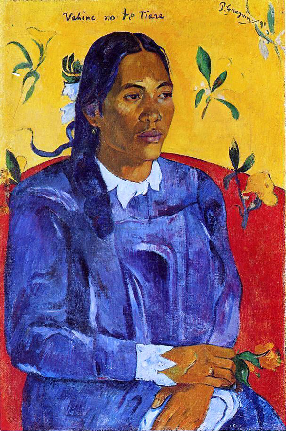 Paul Gauguin Vahine no te Tiare (also known as Woman with a Flower) - Canvas Art Print