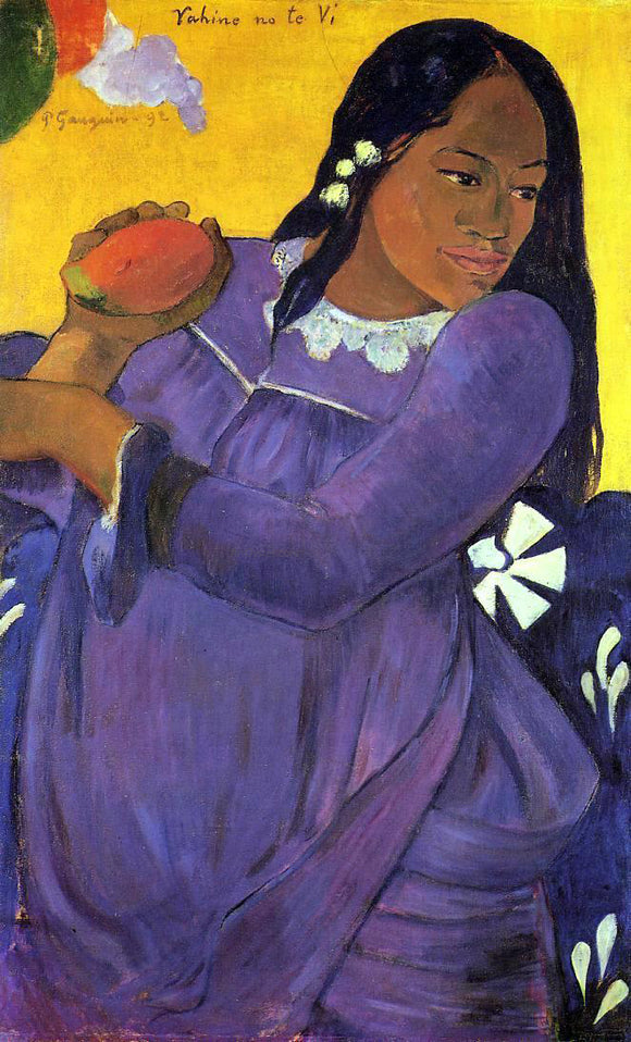 Paul Gauguin Vahine no te vi (also known as Woman with a Mango) - Canvas Art Print