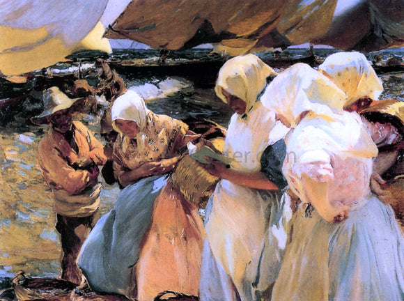 Joaquin Sorolla Y Bastida Valencian Fishwives - Canvas Art Print