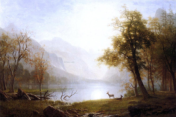 Albert Bierstadt Valley in Kings Canyon - Canvas Art Print