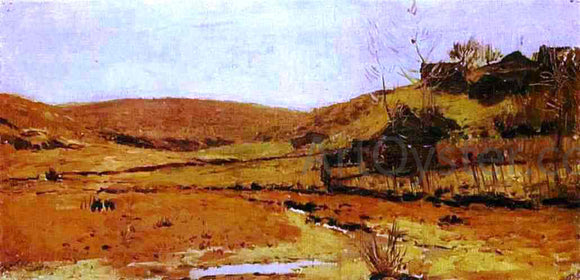 Isaac Ilich Levitan Valley of a River, Study - Canvas Art Print