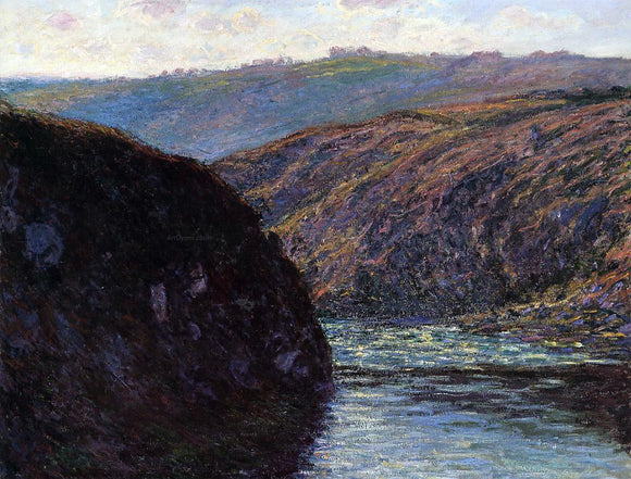 Claude Oscar Monet Valley of the Creuse, Afternoon Sunlight - Canvas Art Print
