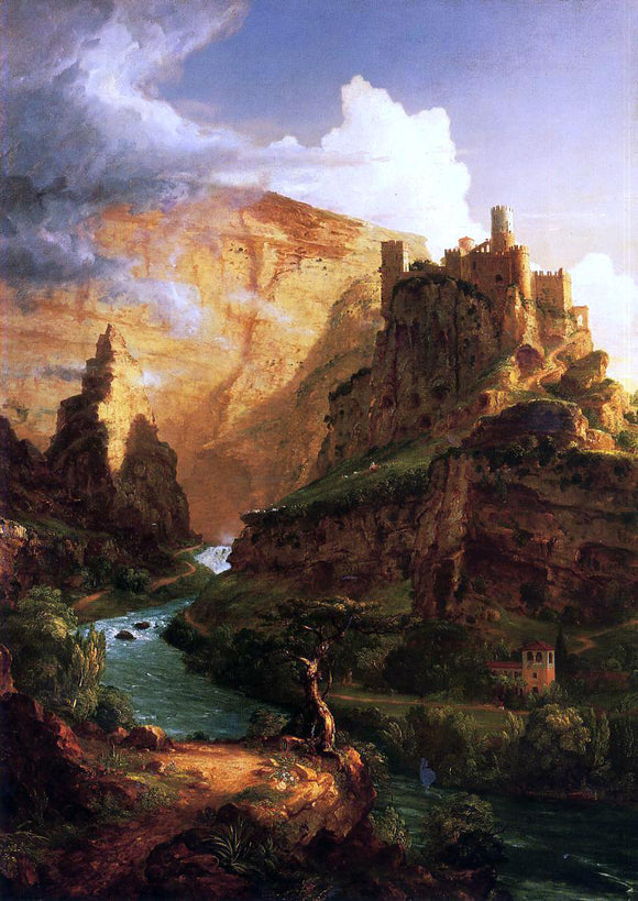 Thomas Cole Valley of the Vaucluse - Canvas Art Print
