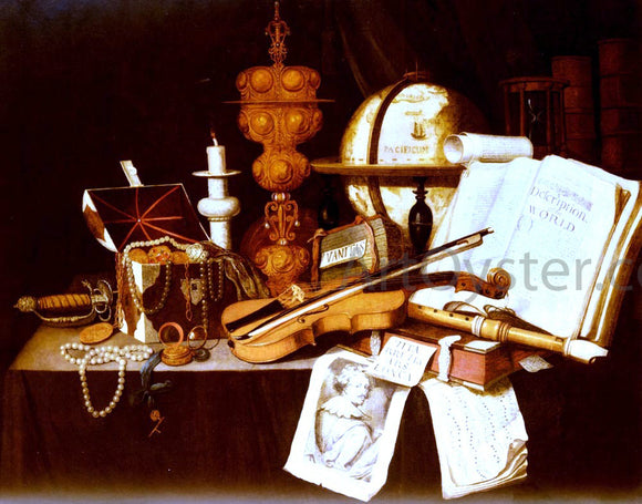 Evert Collier Vanitas Still Life - Canvas Art Print