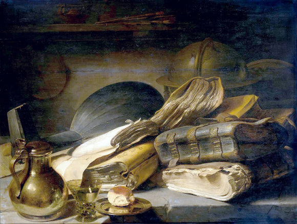 Jan Lievens Vanitas Still Life - Canvas Art Print