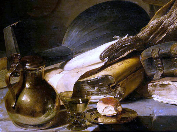 Jan Lievens Vanitas Still Life (detail #1) - Canvas Art Print