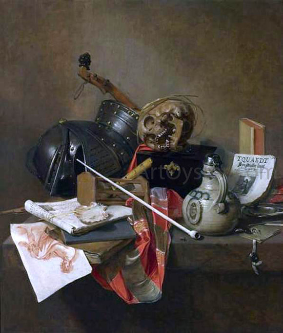 Jan Jansz Treck Vanitas Still-Life - Canvas Art Print
