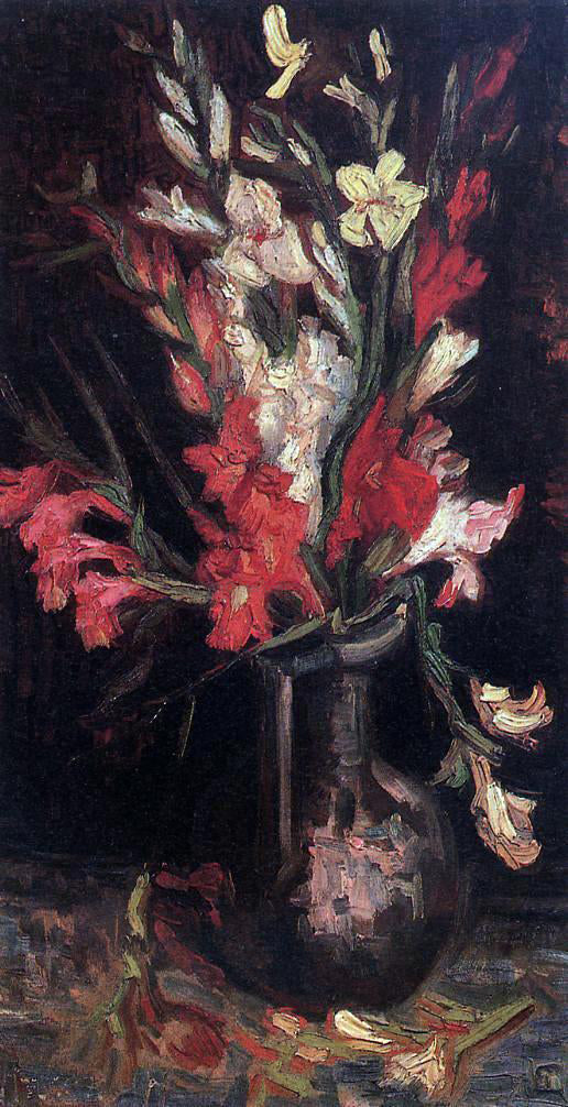 Vincent Van Gogh Vase with Red Gladioli - Canvas Art Print