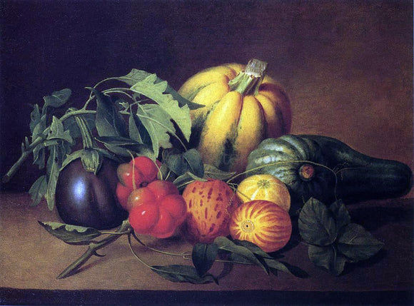 James Peale Vegetable Still Life - Canvas Art Print