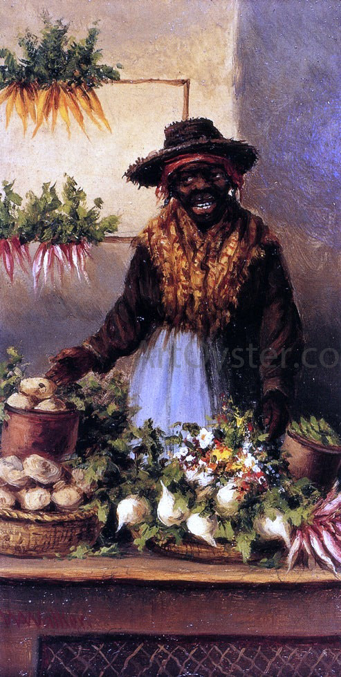William Aiken Walker Vegetable Vendor at Charleston Market - Canvas Art Print